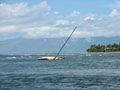 Sunken sailboat off the coast of Lahaina